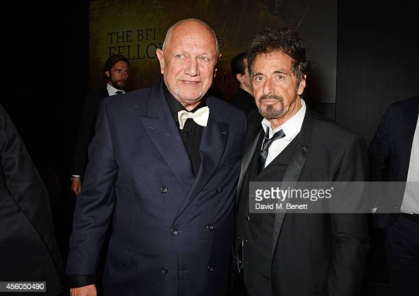 Steven Berkoff and Al Pacino attend the Al Pacino BFI Fellowship Dinner supported by Moet Chandon at the Corinthia Hotel London on September 24 2014...