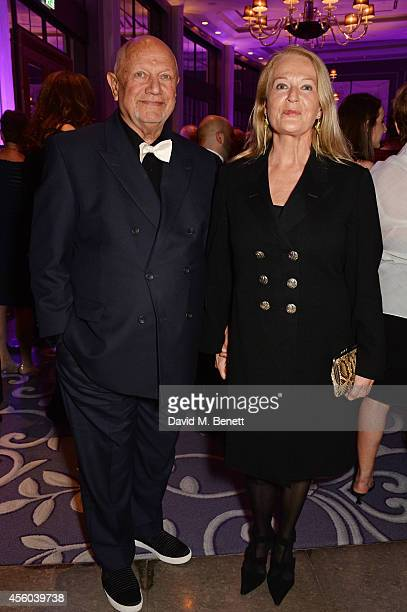 Steven Berkoff and Clara Fisher attend the Al Pacino BFI Fellowship Dinner supported by Moet Chandon at the Corinthia Hotel London on September 24...