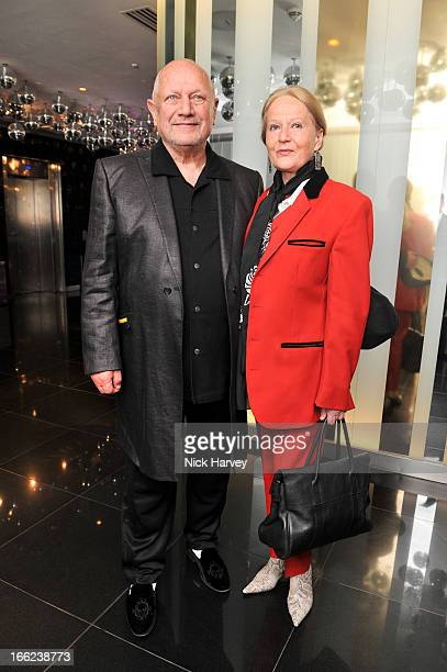 Steven Berkoff and Shelley Lee attend as John Hurt is awarded the Liberatum cultural honour at W hotel Leicester Sq on April 10 2013 in London England