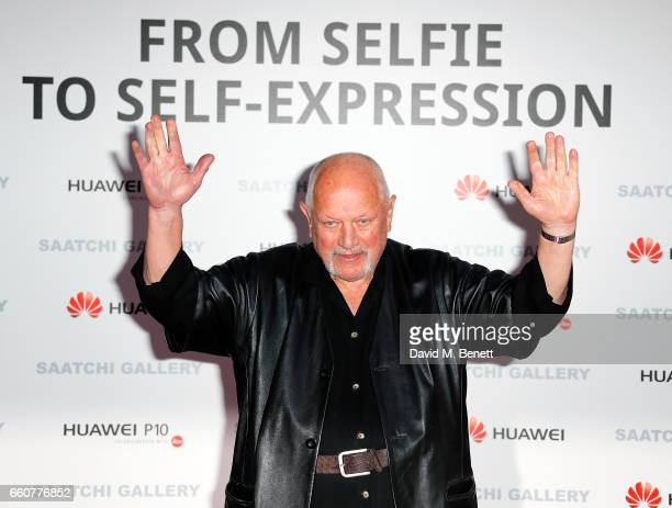 Steven Berkoff attends the 'From Selfie To SelfExpression Exhibition presented by Huawei in partnership with the Saatchi Gallery on March 30 2017 in...