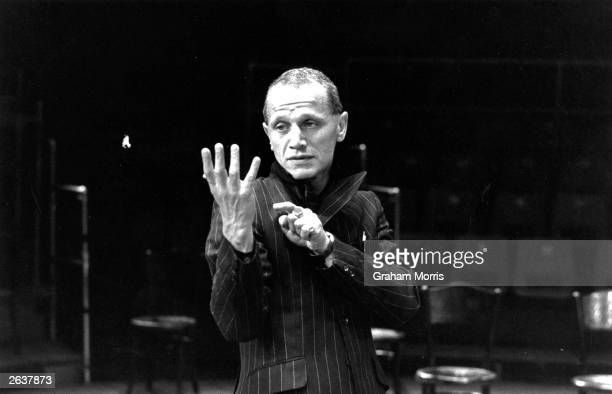 Steven Berkoff dramatist writer and actor during his performance as Hamlet at the Roundhouse London