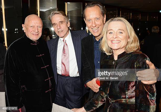 Steven Berkoff Jeremy Irons Richard E Grant and Sinead Cusack attend the Liberatum Cultural Honour for Francis Ford Coppola at The Bulgari Hotel on...