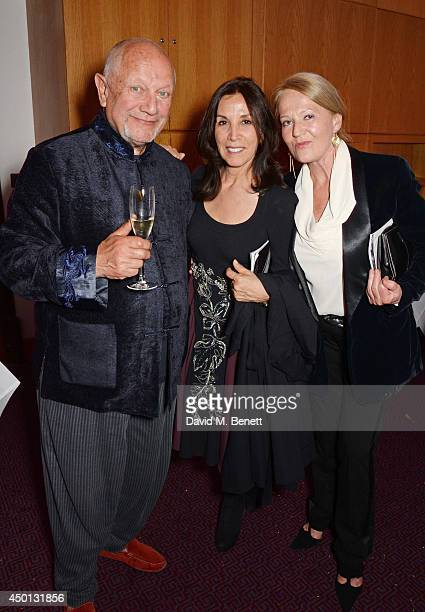 Steven Berkoff Olivia Harrison and Clara Fisher attend an after party celebrating the press night performance of 'Benvenuto Cellini' directed by...