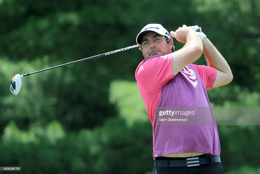 Steven Bowditch of Australia plays a shot during a practice round prior to the World Golf Championships-Bridgestone Invitational at Firestone Country Club South Course on June 28, 2016 in Akron, Ohio.