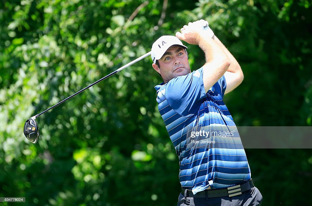 <a gi-track='captionPersonalityLinkClicked' href=/galleries/search?phrase=Steven+Bowditch&family=editorial&specificpeople=178997 ng-click='$event.stopPropagation()'>Steven Bowditch</a> of Australia plays his shot from the sixth tee during the Second Round of the DEAN & DELUCA Invitational at Colonial Country Club on May 27, 2016 in Fort Worth, Texas.