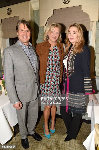 Steven Butensky Liliana Cavendish and Paola Marcotto attend the launch of Second Bloom Cathy Graham's Art of the Table hosted by Joanna Coles and...