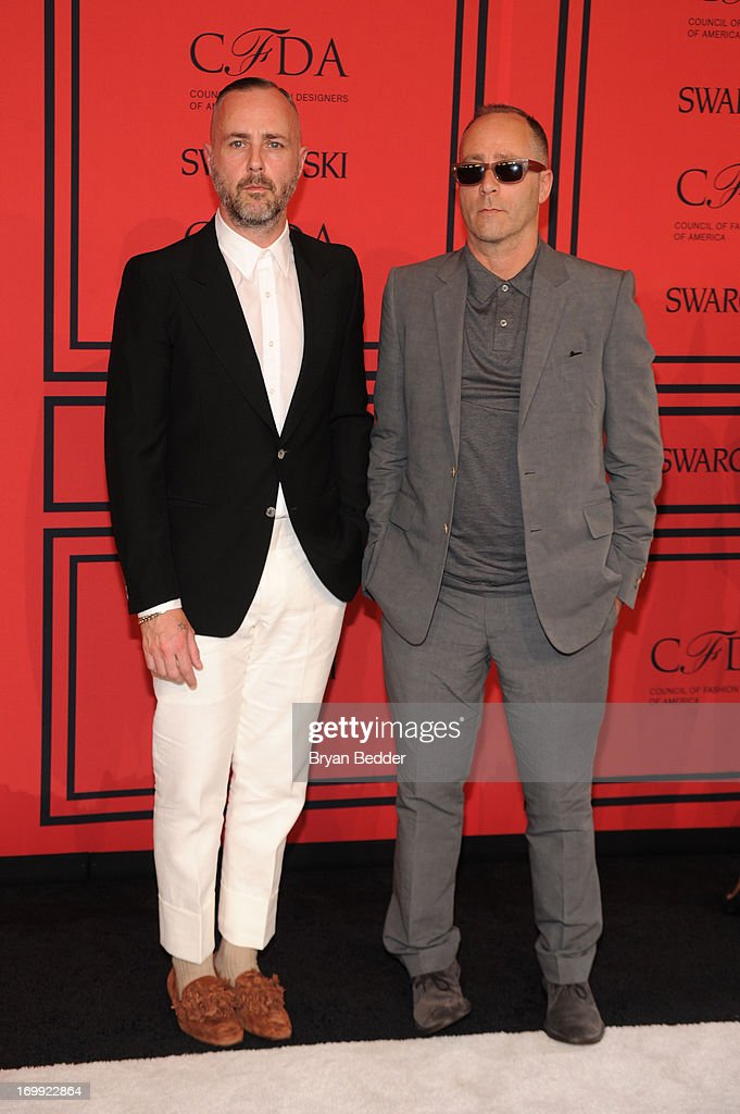Steven Cox (L) and Daniel Silver attend 2013 CFDA FASHION AWARDS Underwritten By Swarovski - Red Carpet Arrivals at Lincoln Center on June 3, 2013 in New York City.