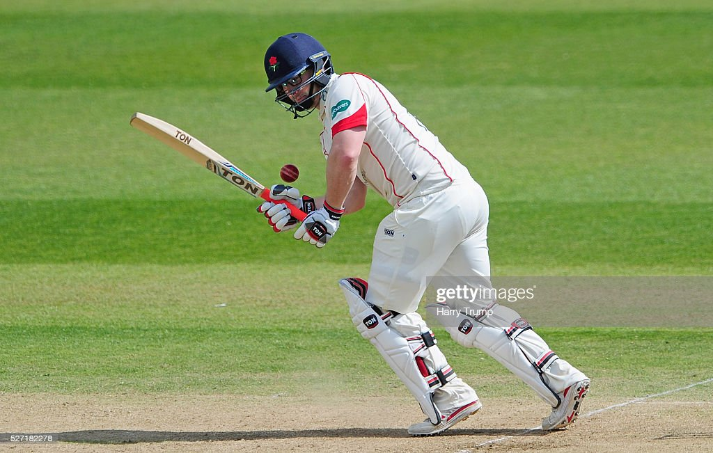 Steven Croft of Lancashire bats during Day Two of the Specsavers County Championship Division One match between Somerset and Lancashire at the County Ground on May 02, 2016 in Taunton, United Kingdom.