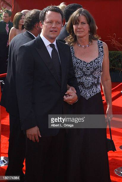 Steven Culp with guest during The 57th Annual Emmy Awards Arrivals at Shrine Auditorium in Los Angeles California United States