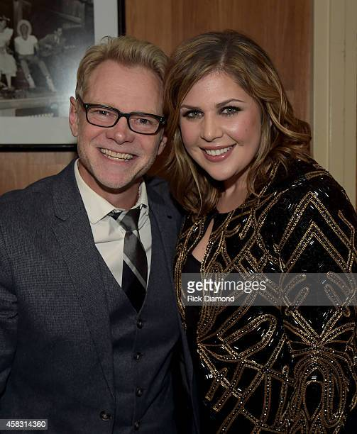 Steven Curtis Chapman and Hillary Scott of Lady Antebellum backstage at the first of six monthly concerts hosted by Steven Curtis Chapman Sam's Place...