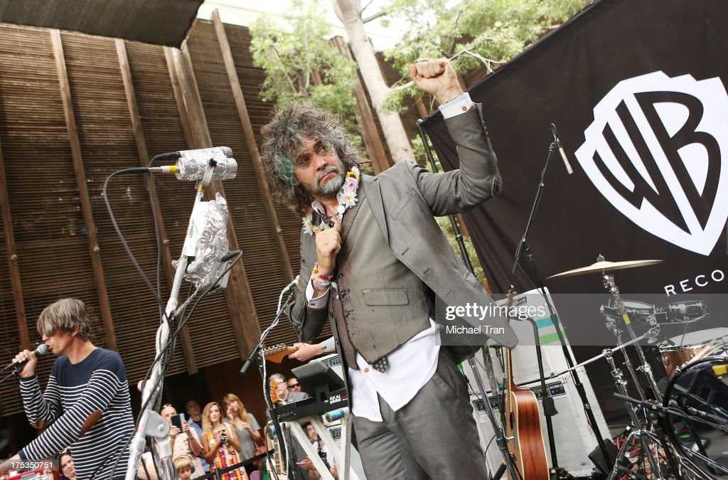 Steven Drozd (L) and Wayne Coyne of The Flaming Lips perform at the Warner Bros Records 3rd Annual 'Summer Sessions' - Flaming Lips held on August 2, 2013 in Burbank, California.