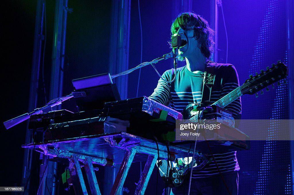 <a gi-track='captionPersonalityLinkClicked' href=/galleries/search?phrase=Steven+Drozd&family=editorial&specificpeople=675693 ng-click='$event.stopPropagation()'>Steven Drozd</a> of The Flaming Lips performs onstage at Egyptian Room at Old National Centre on April 29, 2013 in Indianapolis, Indiana.