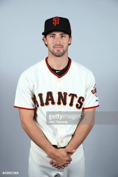 Steven Duggar of the San Francisco Giants poses during Photo Day on Monday February 20 2017 at Scottsdale Stadium in Scottsdale Arizona