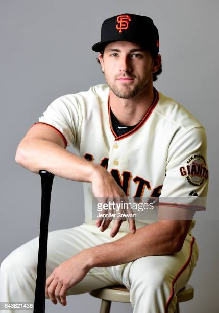 Steven Duggar of the San Francisco Giants poses for a portrait during a MLB photo day at Scottsdale Stadium on February 20 2017 in Scottsdale Arizona