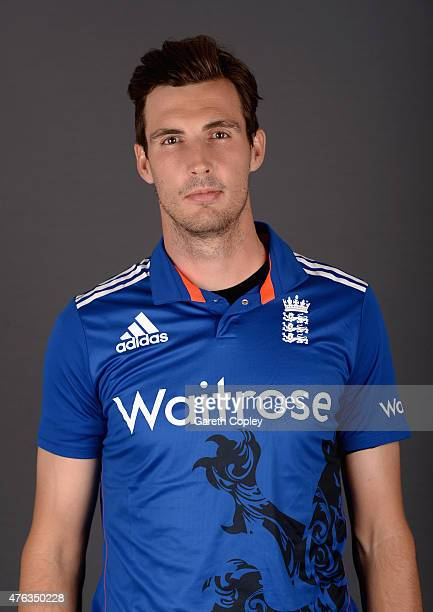 Steven Finn of England poses for a portrait at Edgbaston on June 8 2015 in Birmingham England