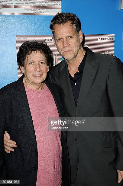 Steven Friedman and Al Corley attend 'Phalaris's Bull Solving The Riddle Of The Great Big World' opening night at Beckett Theatre on December 17 2015...