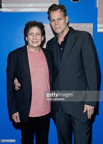 Steven Friedman and Al Corley attends 'Phalaris's Bull Solving The Riddle Of The Great Big World' opening night at Beckett Theatre on December 17...