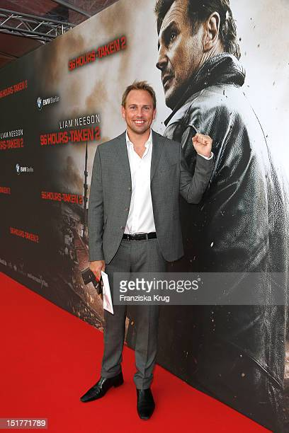 Steven Gaetjen attends the '96 Hours Taken 2' Germany premiere at Kino in der Kulturbrauerei on September 11 2012 in Berlin Germany