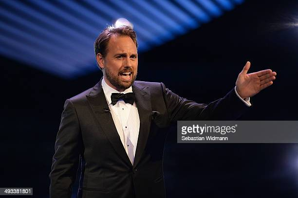 Steven Gaetjen hosts the awards show of the 'Bayerischer Fernsehpreis 2014' at Prinzregententheater on May 23 2014 in Munich Germany