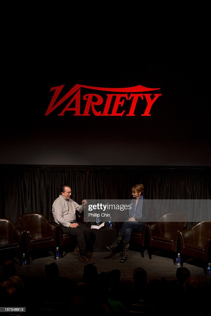 Steven Gaydor (executive editor Variety) and Melissa Rosenberg (Variety's Billon Dollar Screenwriter) at the 12th Annual Whistler Film Festival - In Conversation With Variety's 10 Screenwriters To Watch on December 1, 2012 in Whistler, Canada.