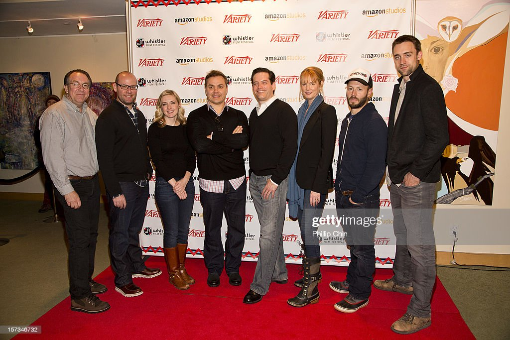 Steven Gaydor (variety), Screenwriters Scott Rothman, Kate Dippold, Ted Melfi, MIchael Lewis, Melissa Rosenberg, Patrick Aison and <a gi-track='captionPersonalityLinkClicked' href=/galleries/search?phrase=Reid+Carolin&family=editorial&specificpeople=6705289 ng-click='$event.stopPropagation()'>Reid Carolin</a> arrive at the red carpet for the 12th Annual Whistler Film Festival - In Conversation With Variety's 10 Screenwriters To Watch on December 1, 2012 in Whistler, Canada.