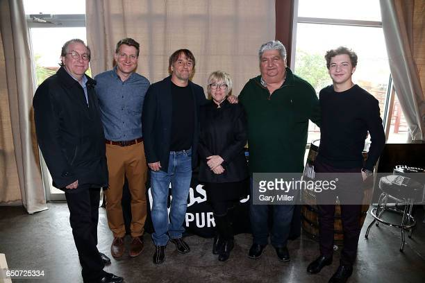 Steven Gaydos Jeff Nichols Richard Linklater Sarah Green Hector Galan and Tye Sheridan attend the Austin Film Society's Texas Film Awards Press...