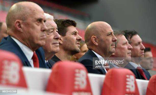 Steven Gerrard during the Kenny Dalglish Stand unveiling on October 13 2017 in Liverpool United Kingdom