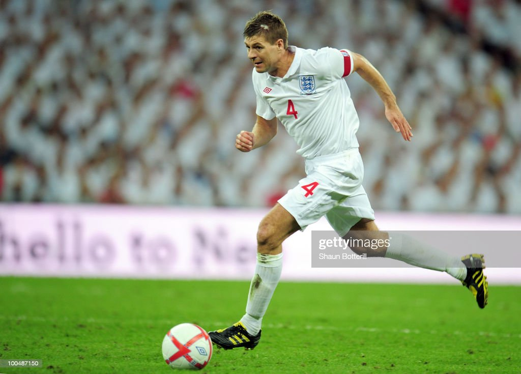 Steven Gerrard of England in action during the International Friendly match between England and Mexico at Wembley Stadium on May 24, 2010 in London, England.