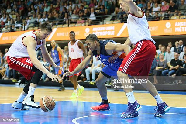 Steven Gray of Gravelines and Olivier Cortale of Strasbourg during the Final match between Strasbourg and Gravelines Dunkerque at Tournament ProStars...