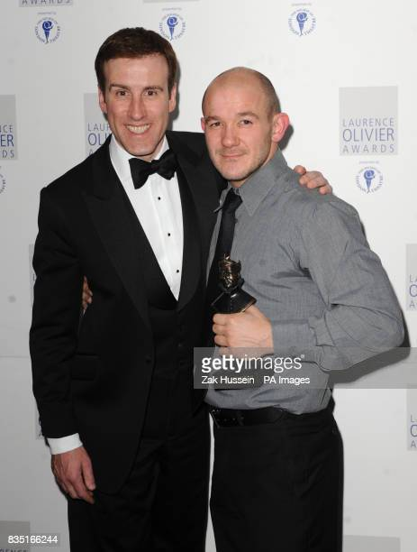 Steven Hoggett wins the Best Theatre Choreographer Award for Black Watch at the Barbican presented by Anton De Beke during the Laurence Olivier...