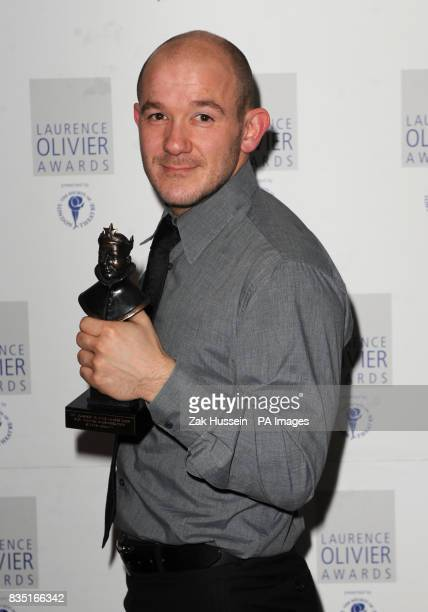 Steven Hoggett wins the Best Theatre Choreographer Award for Black Watch at the Barbican during the Laurence Olivier Awards at the Grosvenor Hotel in...