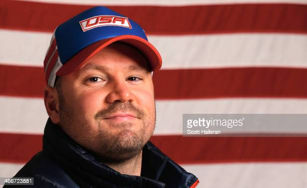 Steven Holcomb of the United States Bobsled team poses for a portrait ahead of the Sochi 2014 Winter Olympics on February 3 2014 in Sochi Russia