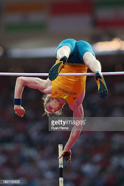 Steven Hooker of Australia competes during the Men's Pole Vault Final on Day 14 of the London 2012 Olympic Games at Olympic Stadium on August 10 2012...