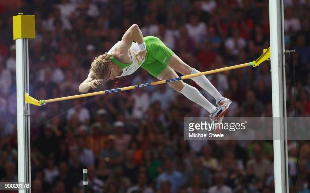Steven Hooker of Australia competes in the men's Pole Vault Final during day eight of the 12th IAAF World Athletics Championships at the Olympic...