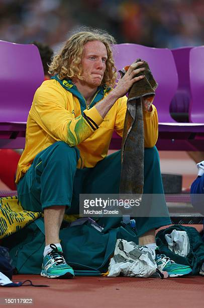 Steven Hooker of Australia looks on during the Men's Pole Vault Final on Day 14 of the London 2012 Olympic Games at Olympic Stadium on August 10 2012...