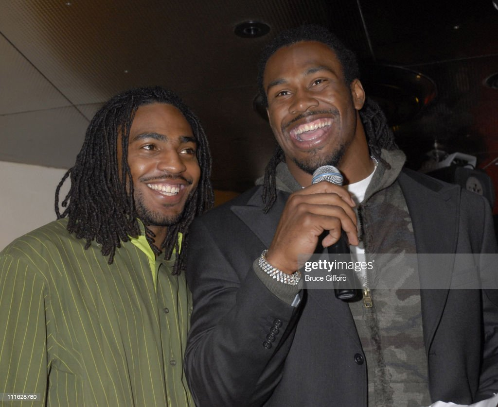 Steven Jackson right and brother during NFL Pro Bowler Steven Jackson and the Sirens of TI Team Up to Support Easter Seals Southern Nevada and The...