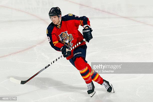 Steven Kampfer of the Florida Panthers skates for position against the New York Islanders at the BBT Center on March 7 2015 in Sunrise Florida