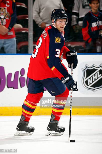Steven Kampfer of the Florida Panthers skates on the ice prior to the start of the game against the Tampa Bay Lightning at the BBT Center on November...