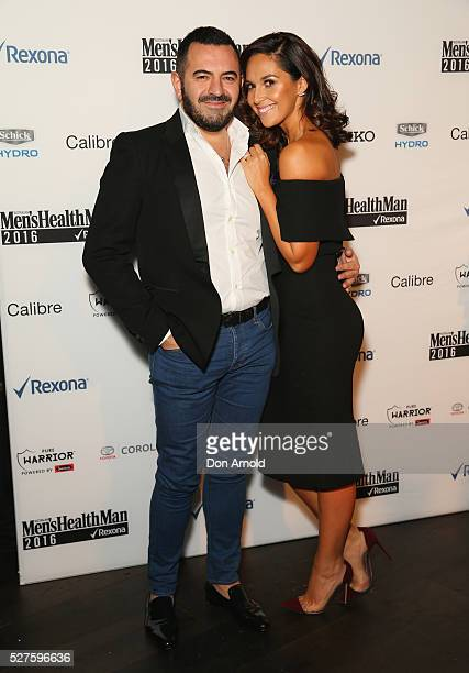Steven Khalil and Zoe Marshall attend the Men's Health MAN 2016 Awards on May 3 2016 in Sydney Australia