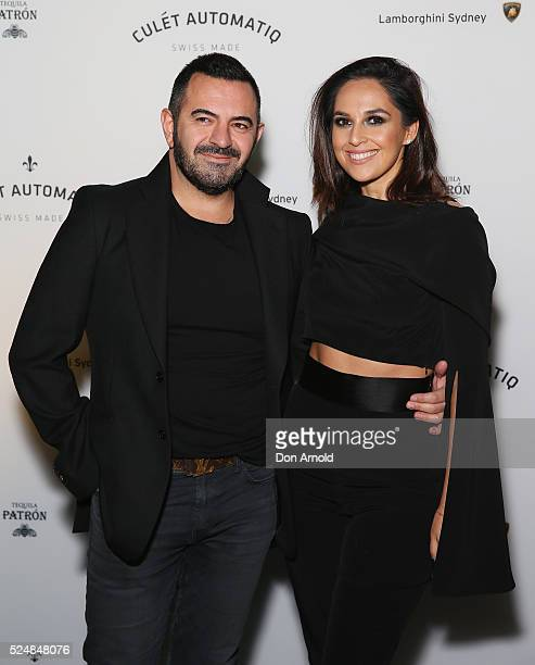 Steven Khalil and Zoe Marshall attends the launch of Culet Automatiq on April 27 2016 in Sydney Australia
