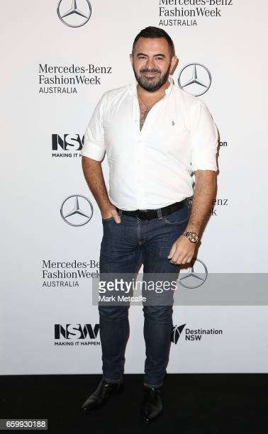 Steven Khalil arrives ahead of the MercedesBenz Fashion Week Australia 2017 Schedule Launch at Ovolo Hotel on March 29 2017 in Sydney Australia