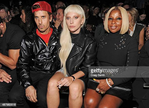 Steven Klein Lady Gaga and Mary J Blige attend the Alexander Wang Spring 2016 fashion show during New York Fashion Week at Pier 94 on September 12...