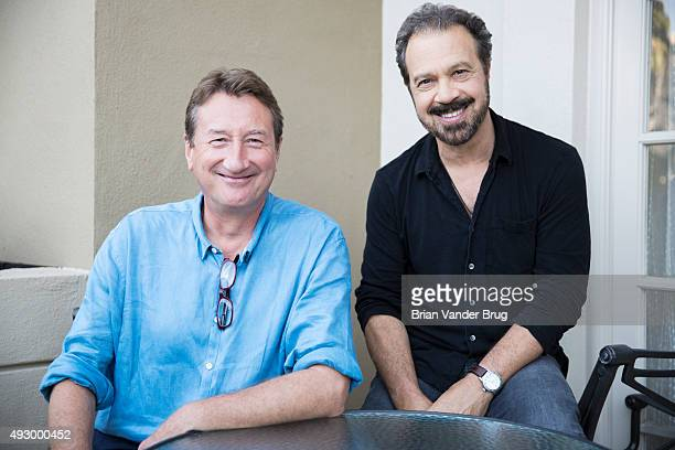 Steven Knight and Ed Zwick are photographed for Los Angeles Times on August 22 2015 in Los Angeles California PUBLISHED IMAGE CREDIT MUST READ Brian...