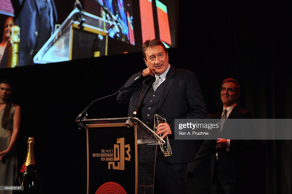 Steven Knight receives the award for Best Screenplay as he attends the ceremony for the Moet British Independent Film Awards at Old Billingsgate Market on December 8, 2013 in London, England.