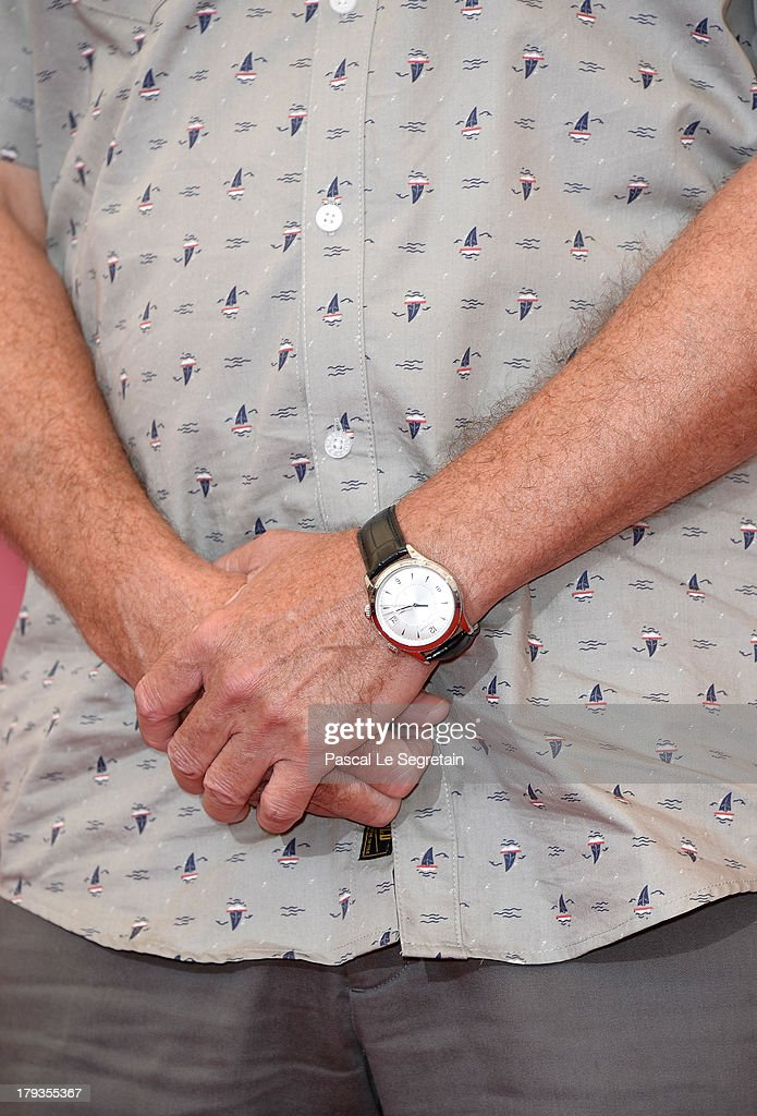 Steven Knight (detail) wears a Jaeger-LeCoultre watch at the 'Locke'' photocall during the 70th Venice Film Festival at the Palazzo del Casino on September 2, 2013 in Venice, Italy.