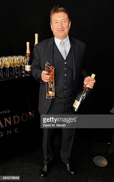 Steven Knight winner of the Best Screenplay award for 'Locke' poses backstage at the Moet British Independent Film Awards 2013 at Old Billingsgate...