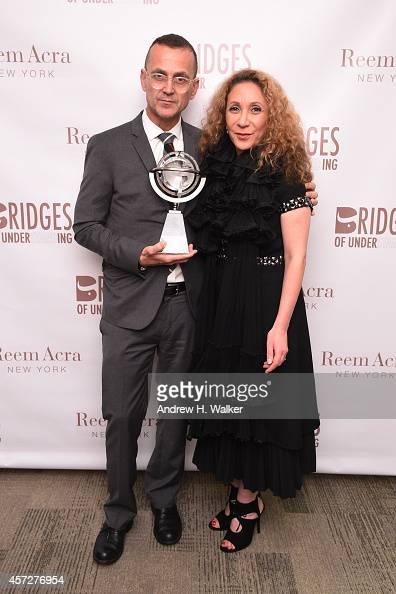 Steven Kolb and designer Reem Acra attend Bridges Of Understanding's annual 'Building Bridges' award dinner honoring designer Reem Acra with Steven...
