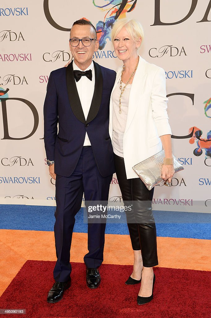 Steven Kolb and EditorinChief at Cosmopolitan Joanna Coles attend the 2014 CFDA fashion awards at Alice Tully Hall Lincoln Center on June 2 2014 in...
