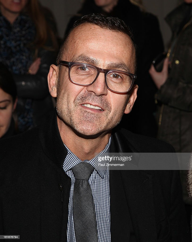 <a gi-track='captionPersonalityLinkClicked' href=/galleries/search?phrase=Steven+Kolb&family=editorial&specificpeople=854812 ng-click='$event.stopPropagation()'>Steven Kolb</a> attends Reed Krakoff during Fall 2013 Mercedes-Benz Fashion Week on February 13, 2013 in New York City.