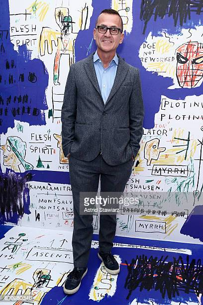 Steven Kolb attends the alice olivia x Basquiat CFDA Capsule Collection launch party on November 2 2016 in New York City